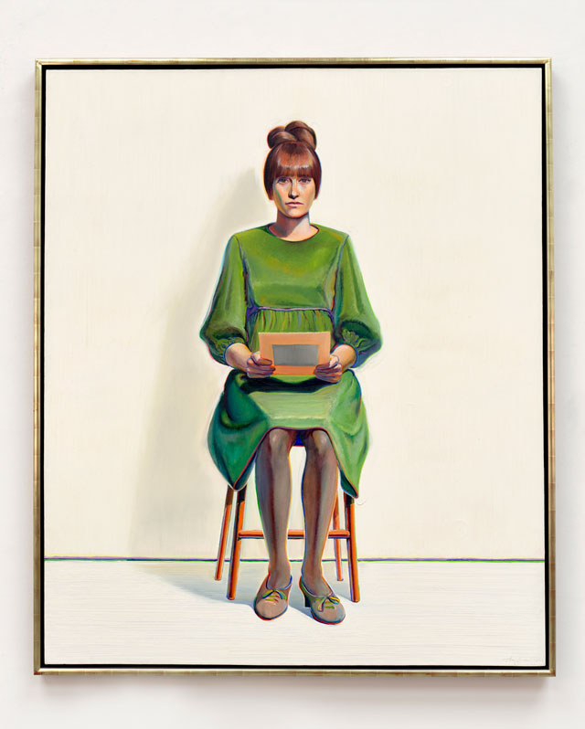 Wayne Thiebaud. Green Dress, 1966/2017. Oil on canvas, 72 x 60 in (182.9 x 152.4 cm). © Wayne Thiebaud/DACS, London/VAGA, New York 2017.