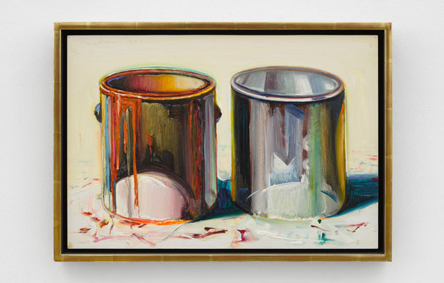 Wayne Thiebaud. Two Paint Cans, 1987. Oil on canvas, 13 3/4 x 19 7/8 in (34.9 x 50.5 cm). © Wayne Thiebaud/DACS, London/VAGA, New York 2017.