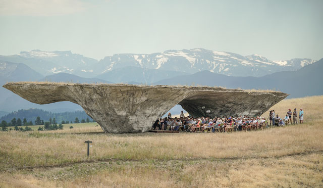 Concert beneath the Domo by Ensamble Studio. Image courtesy of Tippet Rise Art Center. Photograph: Erik Peterson.