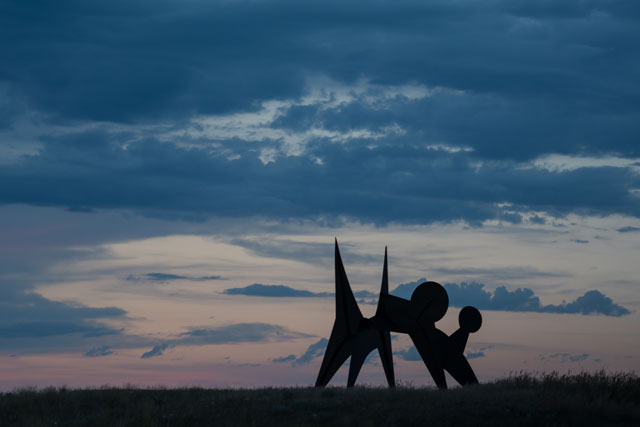 Alexander Calder, Two Discs, 1965, installed at Tippet Rise. On loan from the Hirshhorn Museum and Sculpture Garden. Image courtesy of Tippet Rise Art Center. Photograph: Erik Peterson.