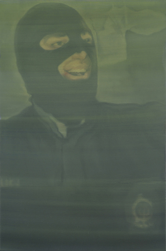 Maryam Najd. Riot police, 2010. Oil on canvas, 60 x 40 cm. © the artist.