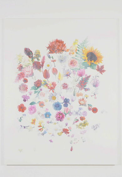 Maryam Najd. Grand Bouquet, 2011-12. Oil on canvas, 260 x 200 cm. © the artist.