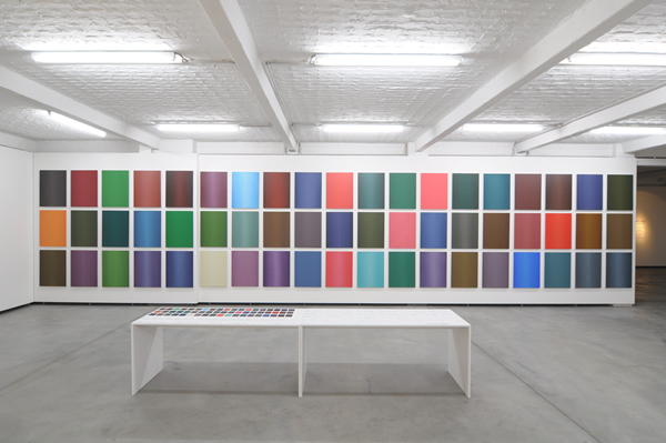 Maryam Najd. Installation view of Panorama paintings, 2011-12.