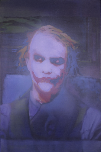 Maryam Najd. Joker, 2009-10. Oil on canvas, 60 x 40 cm. © the artist.