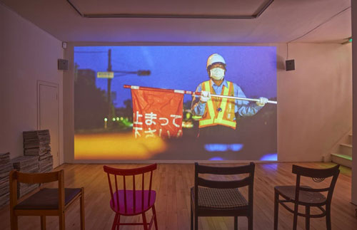 Fiona Tan. Ghost Dwellings, 2013-14. HD video, colour, stereo, room installation. Installation view 3, Frith Street Gallery, Soho Square. Photograph: Alex Delfanne.