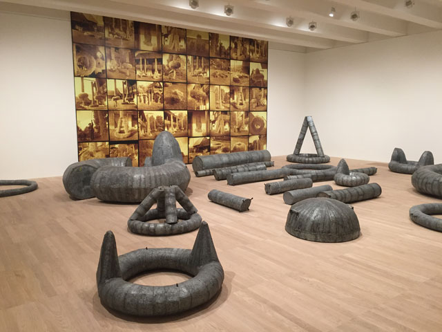 Ana Lupas. The Solemn Process 1964-2008 (1964-74/76; 1980-5; 1985-2008). Wheat, straw, hemp, metal, clay, insultants, wood and vinyl. Photograph: Martin Kennedy.