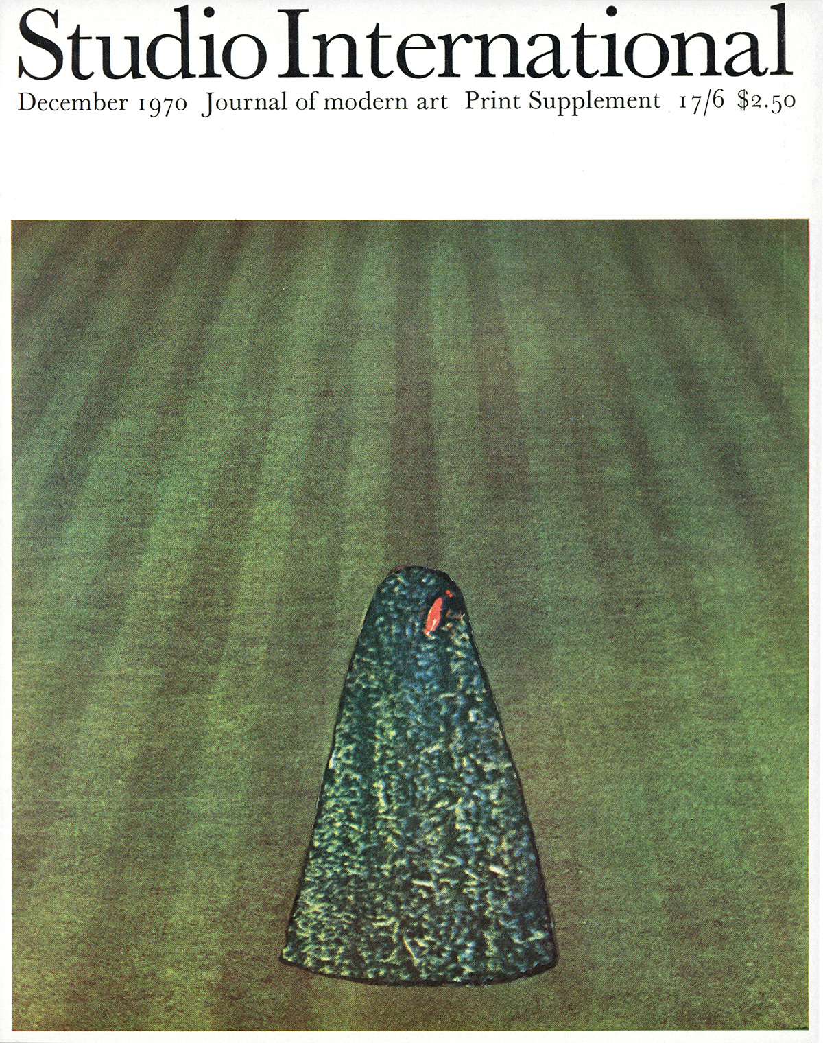 Studio International, Vol 180, No 928, December 1970, pages 229-230.