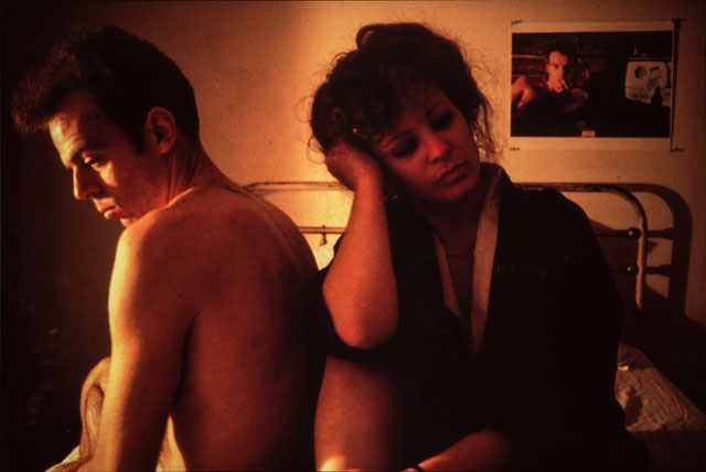 Nan Goldin. Self-Portrait in Kimono with Brian, NYC, 1983. Chromogenic Print, 73 x 104 cm. National Museum of Women in the Arts, Promised Gift of Steven Scott, Baltimore, in honour of the Tenth Anniversary of the National Museum of Women in the Art. © Nan Goldin, Courtesy Matthew Marks Gallery. Photograph: Lee Stalsworth.