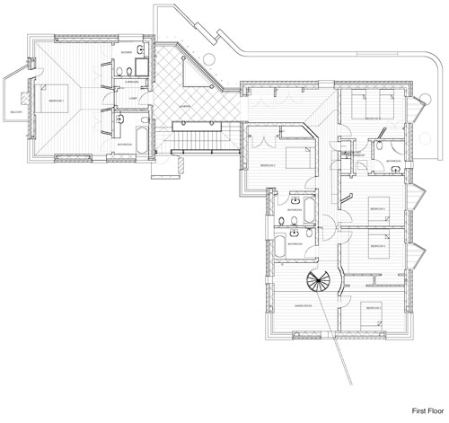 New Architecture by Trevor Dannatt. 1st floor plan.