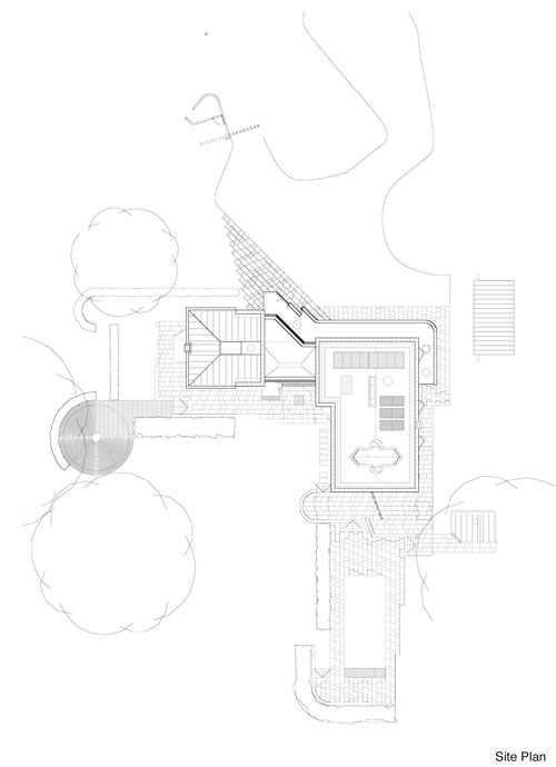 New Architecture by Trevor Dannatt. Site plan.