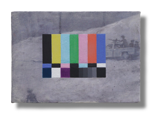 Francis Alÿs. Untitled, 2013. Oil on canvas on wood, 18 x 13 x 1.4 cm. Courtesy of the artist and Francis Alÿs' studio.
