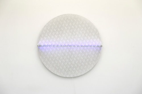 Guy Mees. Untitled, 1965. Lace and neon, 120 cm diameter. Courtesy Galerie Micheline Szwajcer.