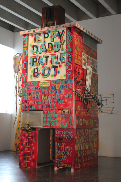 Bob and Roberta Smith. <em>Eppy Daddy Battle Bot</em>, 2010. 