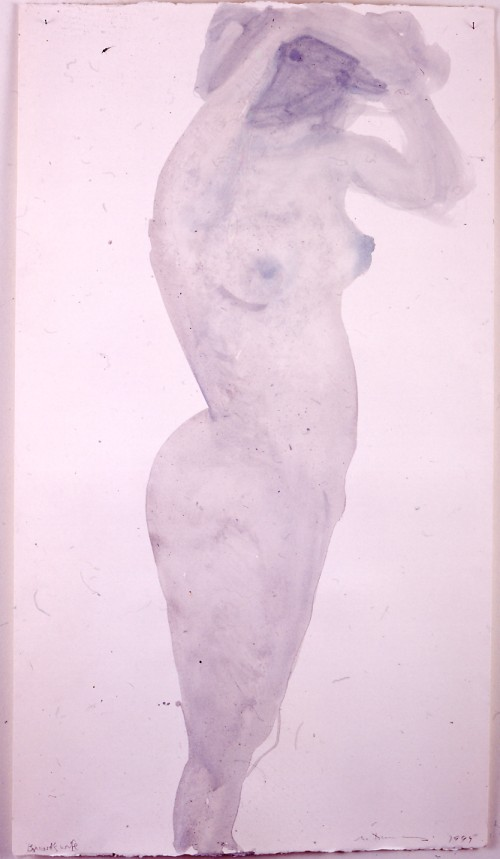 Marlene Dumas. Bonnard's wife, 1999. Ink and acrylic on paper, 125 × 70 cm.