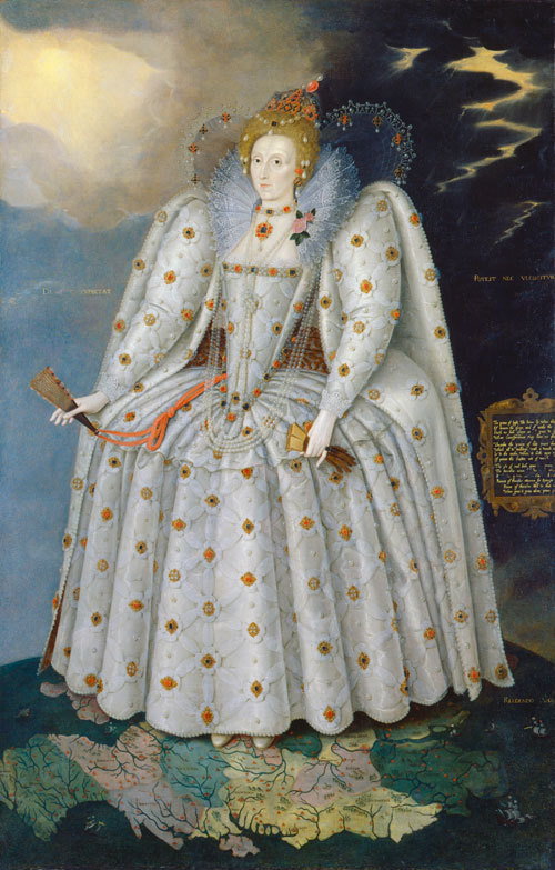 Queen Elizabeth I (The Ditchley portrait) by Marcus Gheeraerts the Younger. © National Portrait Gallery, London.