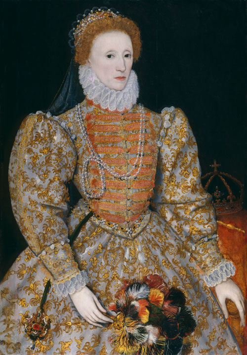 Queen Elizabeth I by Unknown continental artist. © National Portrait Gallery, London.