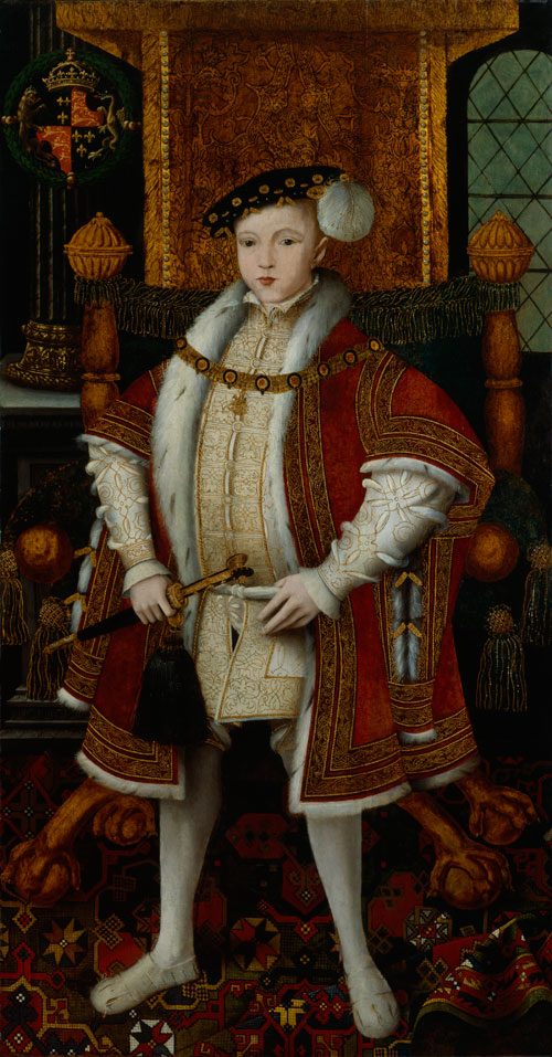 Edward VI by Unknown English artist c1547. © National Portrait Gallery, London.