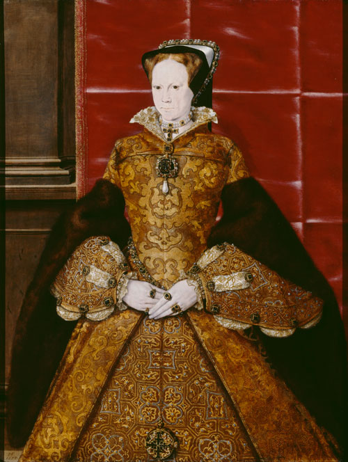 Mary I by Hans Eworth, 1554. © Society of Antiquaries of London.