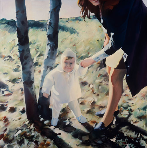 Richard Hamilton. Mother and Child, 1984-85. Oil on canvas, 150 x 150 cm. Private collection. © The Estate of Richard Hamilton.