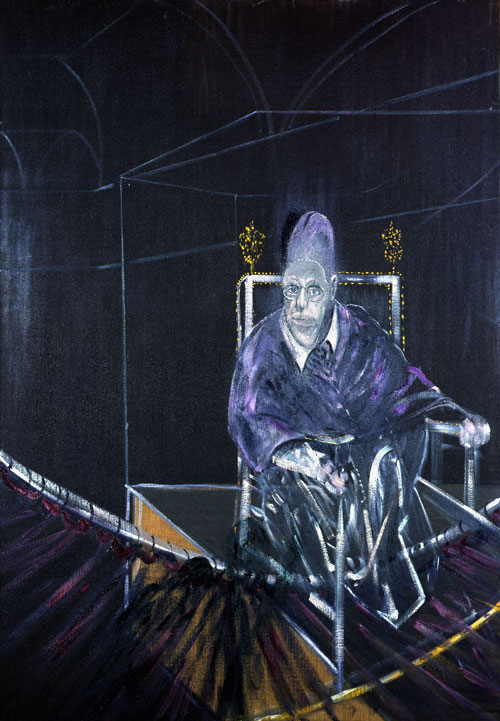 Francis Bacon. Pope I – Study after Pope Innocent X by Velasquez, 1951. Oil on canvas, 197.8 x 137.4 cm. Aberdeen Art Gallery & Museums Collections. © The Estate of Francis Bacon.