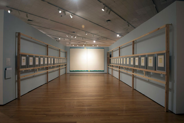 Ilya Kabakov. The Great Axis, 1984. Installation. Installation View: Thinking Pictures: Moscow Conceptual Art at the Dodge Collection at the Zimmerli Art Museum at Rutgers. Photograph: Peter Jacobs.