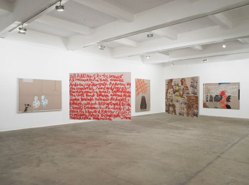 Caragh Thuring, exhibition view (1), Chisenhale Gallery, 2014. All works 2014. Commissioned by Chisenhale Gallery. Courtesy the artist and Thomas Dane Gallery. Photograph: Andy Keate.