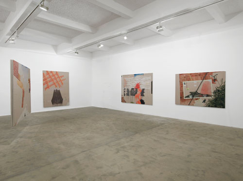 Caragh Thuring, exhibition view (3), Chisenhale Gallery, 2014. All works 2014. Commissioned by Chisenhale Gallery. Courtesy the artist and Thomas Dane Gallery. Photograph: Andy Keate.