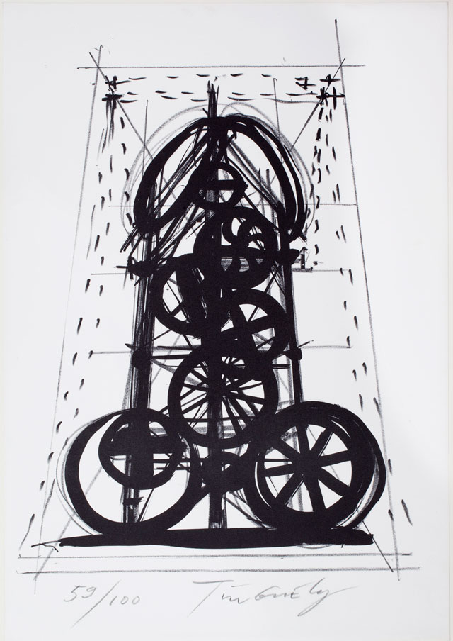 Jean Tinguely. Page from the portfolio La Vittoria of Sergio Tosi (59/100), 1970 – 1972. Collection Stedelijk Museum Amsterdam, c/o Pictoright Amsterdam, 2016.