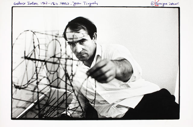 Jean Tinguely with Moulin, 1963. © Museum Tinguely, Basel. Photograph: Monique Jacot.
