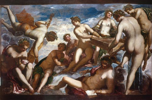 Jacopo Tintoretto. <em>The Muses, </em>c.1578. Oil on canvas, 206.7 cm x 309.8 cm. Royal Collection © 2007, HM Queen Elizabeth II.