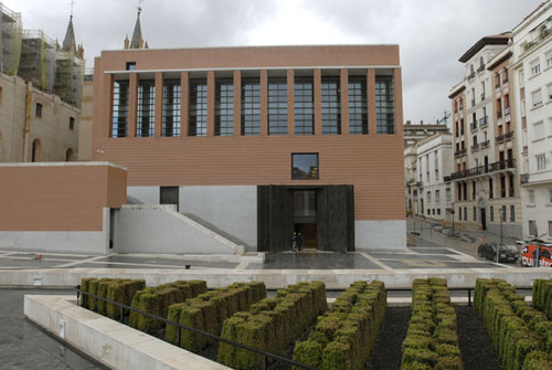 Photograph of the exterior of the new building extension to the Prado, by Rafael Moneo © Museo del Prado - Ministerio de Cultura
