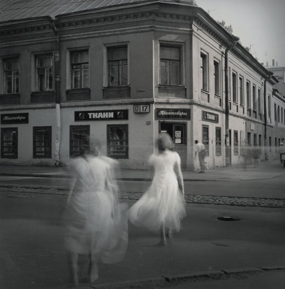 Alexey Titarenko. White Dresses, St. Petersburg, 1995. Gelatin silver print, printed by the artist, edition 13/15, 12 x 12 in (30.5 x 30.5 cm).
