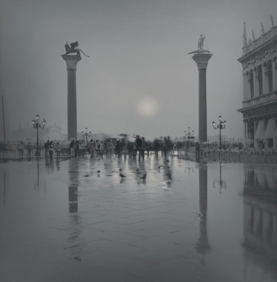 Alexey Titarenko. Columns at the Piazzetta San Marco, Venice, 2006. Gelatin silver print, printed by the artist, edition 5/10, 7 x 7 in (17.8 x 17.8 cm).