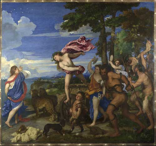 <i>Bacchus and Ariadne</i>, 1520–23. Oil on canvas, 175.2 x 190.5 