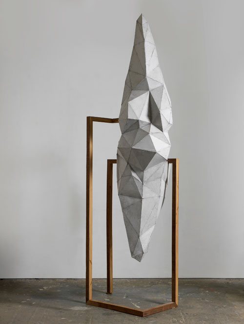 Toby Ziegler. Dactyl, 2011. Oxidised aluminium and timber. 329.3 x 112.5 x 84.5 cm. Courtesy of the artist and Simon Lee Gallery, London.