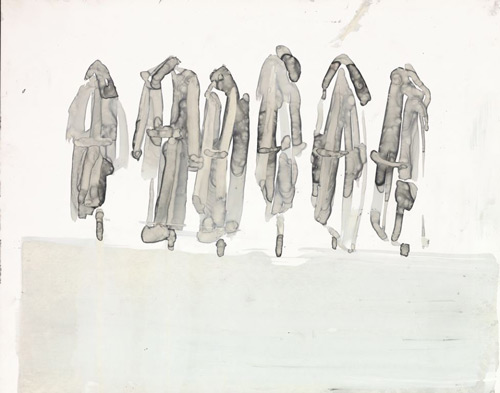 Canan Tolon. Futur imparfait, 1986–99. Ink on Mylar, 27.9 x 35.6 cm (11 x 14 in). The British Museum 2013. Funded by the Contemporary and Modern Middle East Art Acquisitions group (CaMMEA) and SAHA – Supporting Contemporary Art from Turkey.