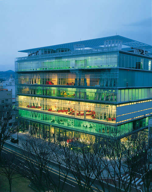 Sendai Mediatheque. Architect: Toyo Ito. Photograph: Miyagi Prefecture Sightseeing Section.