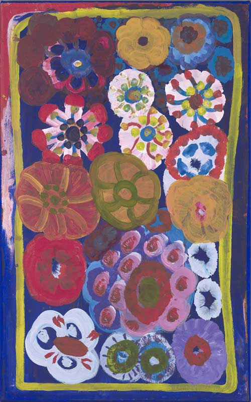 Eva ROGERS, Mara/Yukul c. 1929–2002. 'Bush flowers' 1996. Synthetic 