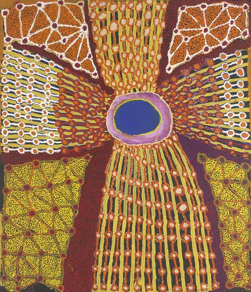 Tjuruparu WATSON, Ngaatjatjarra born c. 1935. 'Natjula' 2003. Synthetic 