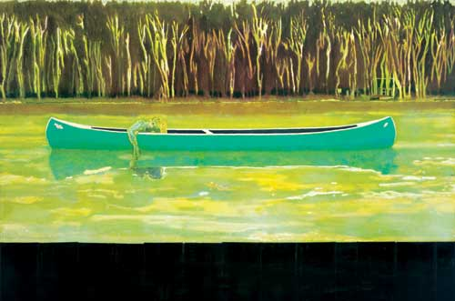 Peter DOIG, 'Canoe-Lake', 1997-98. Oil on canvas, 200 x 300 cm. Copyright 