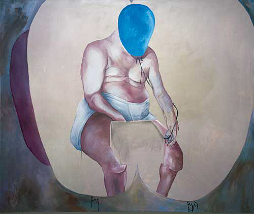 Martin KIPPENBERGER, 'Self Portrait', 1988. Oil on canvas, 200 x 240 