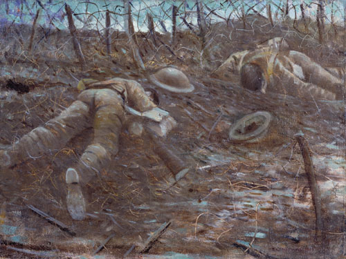 CRW Nevinson. Paths of Glory, 1917. Oil on canvas. © IWM.