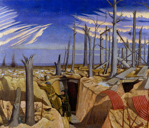 John Nash. Oppy Wood, 1917, Evening (1918). Oil on canvas. © IWM.
