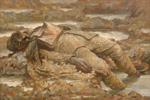 Gilbert Rogers. Gassed. 'In Arduis Fidelis', 1919. Oil on canvas. © IWM.