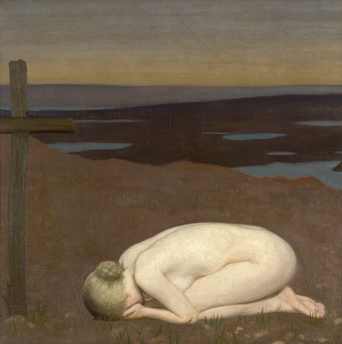 George Clausen. Youth Mourning, 1916. Oil on canvas. © IWM.