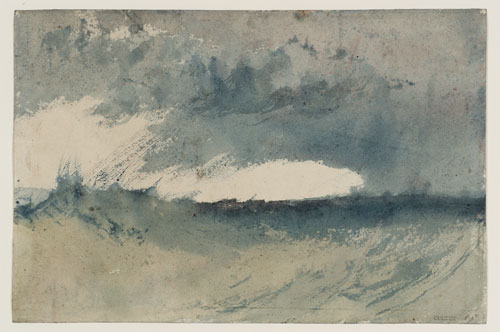 JMW Turner. Study of sea, c1820–30. Watercolour. © Tate.