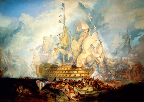 JMW Turner. The Battle of Trafalgar, 21 October 1805, (1823–24). Oil on canvas. © National Maritime Museum (Greenwich Hospital Collection).