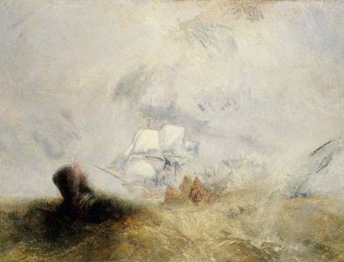 JMW Turner. Whalers (also known as The Whale Ship), 1845. Oil on canvas. © Metropolitan Museum of Art.
