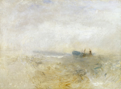 JMW Turner. A Wreck, with Fishing Boats, c1840. Oil on canvas. © Tate.
