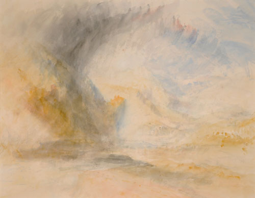 JMW Turner. Foot of St. Gothard, c.1842. Watercolour on paper. City Art Gallery, Leeds. The Bridgeman Art Library.
